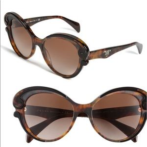Prada Baroque Womens Cat Eye Sunglasses SPR 28N